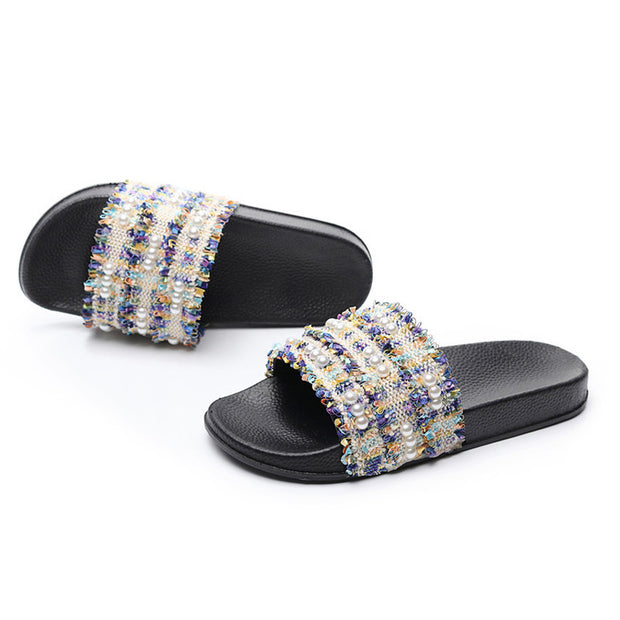 Beach Holiday Pearl Flat Slippers - Shop Shiningbabe - Womens Fashion Online Shopping Offering Huge Discounts on Shoes - Heels, Sandals, Boots, Slippers; Clothing - Tops, Dresses, Jumpsuits, and More.