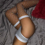 Studded Fishnet Mesh Studded Sexy Stockings