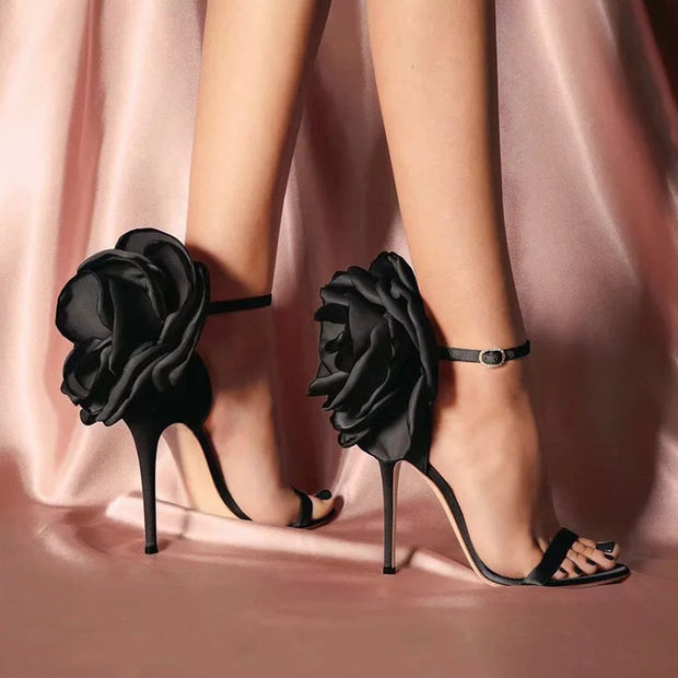 Floral Embellished Thin High Heels - Shop Shiningbabe - Womens Fashion Online Shopping Offering Huge Discounts on Shoes - Heels, Sandals, Boots, Slippers; Clothing - Tops, Dresses, Jumpsuits, and More.
