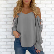Strapless off shoulder chiffon shirt top - Shop Shiningbabe - Womens Fashion Online Shopping Offering Huge Discounts on Shoes - Heels, Sandals, Boots, Slippers; Clothing - Tops, Dresses, Jumpsuits, and More.