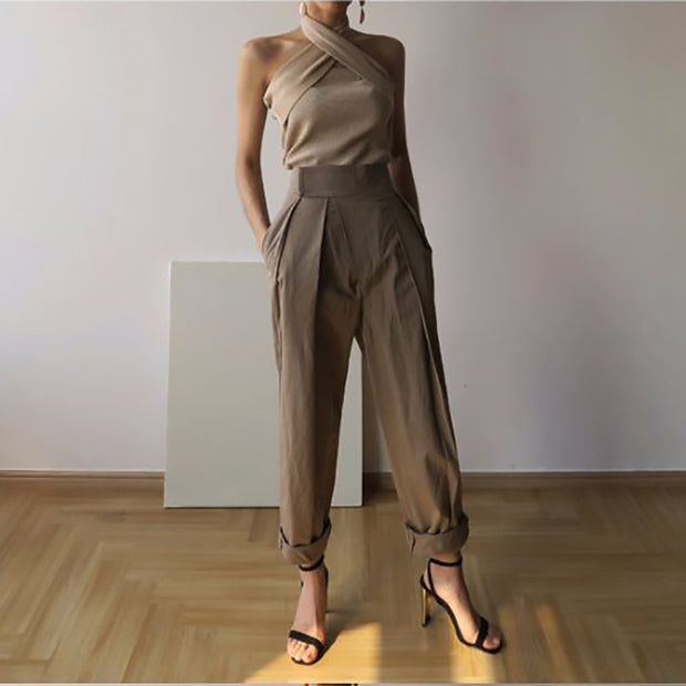 Sexy Halter Sleeveless Slim Top - Shop Shiningbabe - Womens Fashion Online Shopping Offering Huge Discounts on Shoes - Heels, Sandals, Boots, Slippers; Clothing - Tops, Dresses, Jumpsuits, and More.