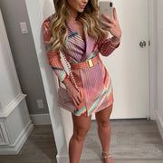 Printed Long Sleeve Sexy Mini Dress - Shop Shiningbabe - Womens Fashion Online Shopping Offering Huge Discounts on Shoes - Heels, Sandals, Boots, Slippers; Clothing - Tops, Dresses, Jumpsuits, and More.