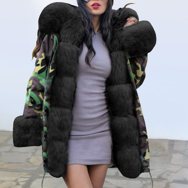 Winter Plush Fur Collar Warm Cotton Coat - Shop Shiningbabe - Womens Fashion Online Shopping Offering Huge Discounts on Shoes - Heels, Sandals, Boots, Slippers; Clothing - Tops, Dresses, Jumpsuits, and More.