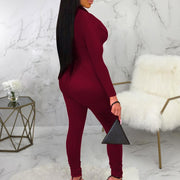 Sexy Colorblock Tight Jumpsuit
