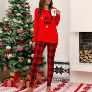 Casual Christmas Plaid Printed Top Set - Shop Shiningbabe - Womens Fashion Online Shopping Offering Huge Discounts on Shoes - Heels, Sandals, Boots, Slippers; Clothing - Tops, Dresses, Jumpsuits, and More.