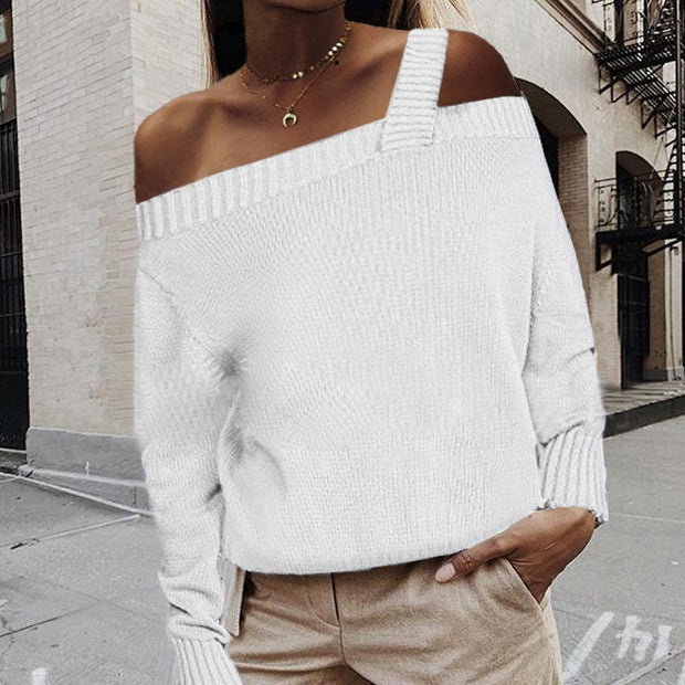 Sexy Sleeveless Shoulder Solid Color Long Sleeve Sweater - Shop Shiningbabe - Womens Fashion Online Shopping Offering Huge Discounts on Shoes - Heels, Sandals, Boots, Slippers; Clothing - Tops, Dresses, Jumpsuits, and More.