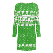 Christmas Print Long Sleeve Dress - Shop Shiningbabe - Womens Fashion Online Shopping Offering Huge Discounts on Shoes - Heels, Sandals, Boots, Slippers; Clothing - Tops, Dresses, Jumpsuits, and More.