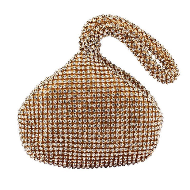 Solid Sequins Rhinestone Evening Handbags
