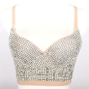 Sequins Rhinestone Decoration Bralette