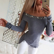 Off Shoulder Beaded & Zipper Design Top - Shop Shiningbabe - Womens Fashion Online Shopping Offering Huge Discounts on Shoes - Heels, Sandals, Boots, Slippers; Clothing - Tops, Dresses, Jumpsuits, and More.
