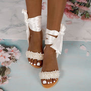 Fashion Solid Color Strappy Bow Flat Sandals - Shop Shiningbabe - Womens Fashion Online Shopping Offering Huge Discounts on Shoes - Heels, Sandals, Boots, Slippers; Clothing - Tops, Dresses, Jumpsuits, and More.