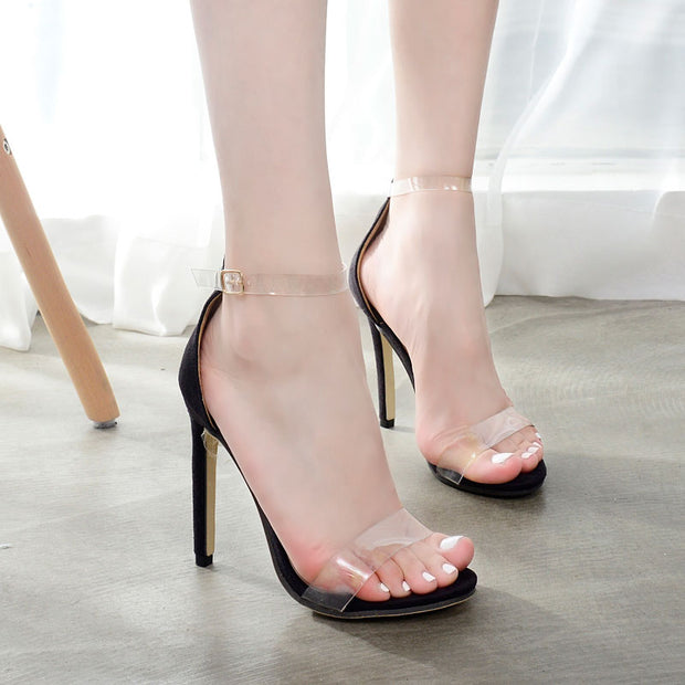 Transparent Film Sandals Super High Heel - Shop Shiningbabe - Womens Fashion Online Shopping Offering Huge Discounts on Shoes - Heels, Sandals, Boots, Slippers; Clothing - Tops, Dresses, Jumpsuits, and More.