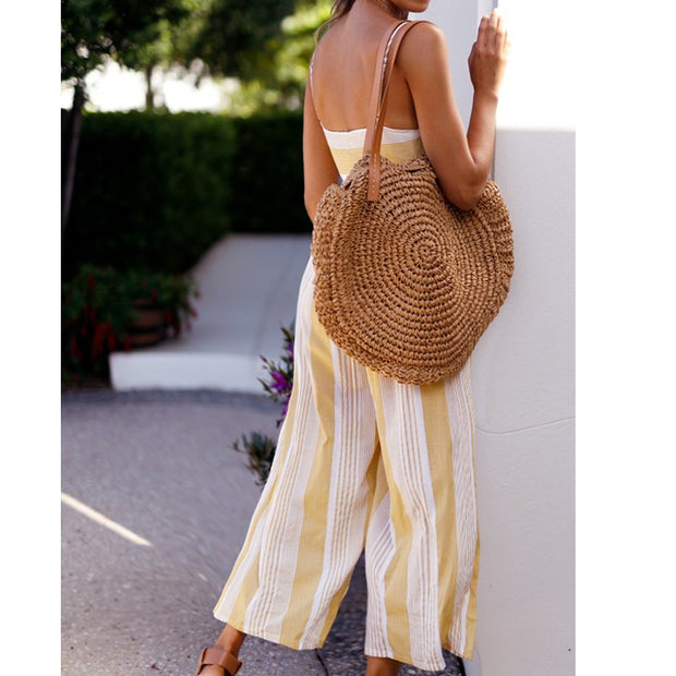 Printed short-sleeved chiffon Jumpsuit - Shop Shiningbabe - Womens Fashion Online Shopping Offering Huge Discounts on Shoes - Heels, Sandals, Boots, Slippers; Clothing - Tops, Dresses, Jumpsuits, and More.