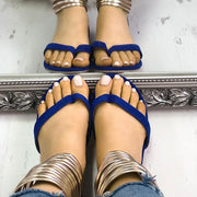 Fashion Metal Ring Flat Sandals - Shop Shiningbabe - Womens Fashion Online Shopping Offering Huge Discounts on Shoes - Heels, Sandals, Boots, Slippers; Clothing - Tops, Dresses, Jumpsuits, and More.