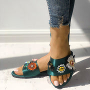Wild Embroidery Flower Flat Slippers - Shop Shiningbabe - Womens Fashion Online Shopping Offering Huge Discounts on Shoes - Heels, Sandals, Boots, Slippers; Clothing - Tops, Dresses, Jumpsuits, and More.