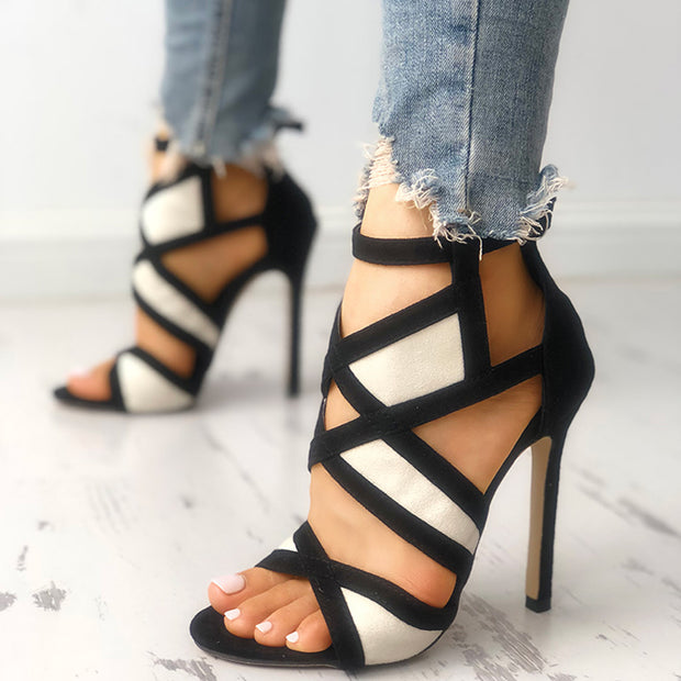 Fashion Bandage Openwork Open Toe Sandals - Shop Shiningbabe - Womens Fashion Online Shopping Offering Huge Discounts on Shoes - Heels, Sandals, Boots, Slippers; Clothing - Tops, Dresses, Jumpsuits, and More.