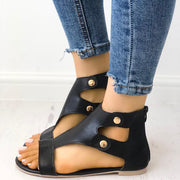 Fashion Cutout Buckle Metal Flat Sandals - Shop Shiningbabe - Womens Fashion Online Shopping Offering Huge Discounts on Shoes - Heels, Sandals, Boots, Slippers; Clothing - Tops, Dresses, Jumpsuits, and More.