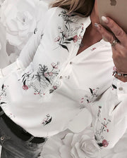 Floral Print Long Sleeve Casual Shirt - Shop Shiningbabe - Womens Fashion Online Shopping Offering Huge Discounts on Shoes - Heels, Sandals, Boots, Slippers; Clothing - Tops, Dresses, Jumpsuits, and More.
