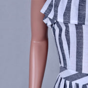 Strap Vertical Striped Button Dress - Shop Shiningbabe - Womens Fashion Online Shopping Offering Huge Discounts on Shoes - Heels, Sandals, Boots, Slippers; Clothing - Tops, Dresses, Jumpsuits, and More.