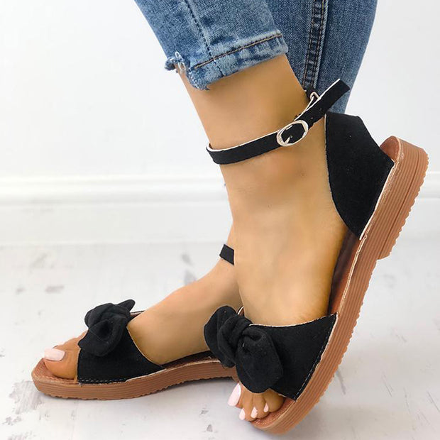 Casual Vintage Bow Flat Sandals - Shop Shiningbabe - Womens Fashion Online Shopping Offering Huge Discounts on Shoes - Heels, Sandals, Boots, Slippers; Clothing - Tops, Dresses, Jumpsuits, and More.