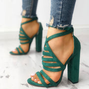 Sexy Straps With Chunky High Heel Sandals - Shop Shiningbabe - Womens Fashion Online Shopping Offering Huge Discounts on Shoes - Heels, Sandals, Boots, Slippers; Clothing - Tops, Dresses, Jumpsuits, and More.