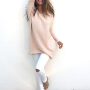 Casual Loose Sweater Bottoming Shirt - Shop Shiningbabe - Womens Fashion Online Shopping Offering Huge Discounts on Shoes - Heels, Sandals, Boots, Slippers; Clothing - Tops, Dresses, Jumpsuits, and More.