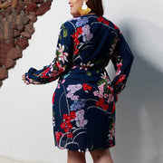 Deep V Neck Floral Print Wrap Cross Women Dress - Shop Shiningbabe - Womens Fashion Online Shopping Offering Huge Discounts on Shoes - Heels, Sandals, Boots, Slippers; Clothing - Tops, Dresses, Jumpsuits, and More.