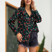 Contrast Printed Women Top Shirt - Shop Shiningbabe - Womens Fashion Online Shopping Offering Huge Discounts on Shoes - Heels, Sandals, Boots, Slippers; Clothing - Tops, Dresses, Jumpsuits, and More.