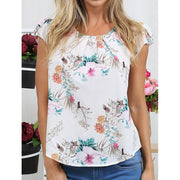 Printed short-sleeved chiffon shirt - Shop Shiningbabe - Womens Fashion Online Shopping Offering Huge Discounts on Shoes - Heels, Sandals, Boots, Slippers; Clothing - Tops, Dresses, Jumpsuits, and More.