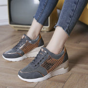 Leopard Print Knitted Breathable Sneakers