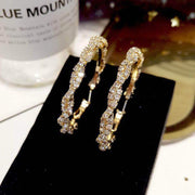 Fashion Circle Shape Studded Earrings