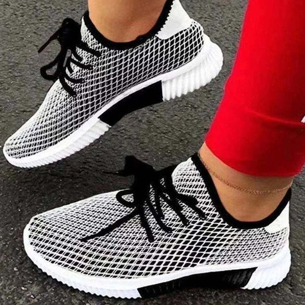 Lace-up Colorblock Breathable Casual Sneakers