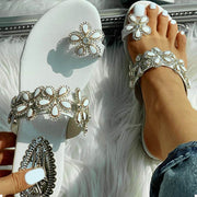 Toe Ring Beaded Floral Design Flat Sandals - Shop Shiningbabe - Womens Fashion Online Shopping Offering Huge Discounts on Shoes - Heels, Sandals, Boots, Slippers; Clothing - Tops, Dresses, Jumpsuits, and More.