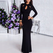 Black Sexy Long Party Dress - Shop Shiningbabe - Womens Fashion Online Shopping Offering Huge Discounts on Shoes - Heels, Sandals, Boots, Slippers; Clothing - Tops, Dresses, Jumpsuits, and More.