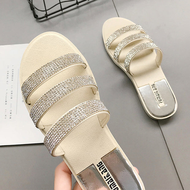 Women's Fashion Rhinestone Slippers - Shop Shiningbabe - Womens Fashion Online Shopping Offering Huge Discounts on Shoes - Heels, Sandals, Boots, Slippers; Clothing - Tops, Dresses, Jumpsuits, and More.