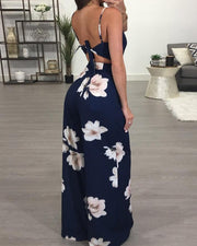 Floral Spaghetti Strap Wide Leg Jumpsuit - Shop Shiningbabe - Womens Fashion Online Shopping Offering Huge Discounts on Shoes - Heels, Sandals, Boots, Slippers; Clothing - Tops, Dresses, Jumpsuits, and More.
