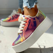 Glitter Lace-up Muffin Sneakers - Shop Shiningbabe - Womens Fashion Online Shopping Offering Huge Discounts on Shoes - Heels, Sandals, Boots, Slippers; Clothing - Tops, Dresses, Jumpsuits, and More.