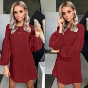 Casual Knit Sweater Dress Bottoming Shirt - Shop Shiningbabe - Womens Fashion Online Shopping Offering Huge Discounts on Shoes - Heels, Sandals, Boots, Slippers; Clothing - Tops, Dresses, Jumpsuits, and More.