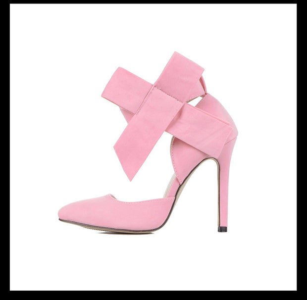 Pointed Big Bow High Heels - Shop Shiningbabe - Womens Fashion Online Shopping Offering Huge Discounts on Shoes - Heels, Sandals, Boots, Slippers; Clothing - Tops, Dresses, Jumpsuits, and More.