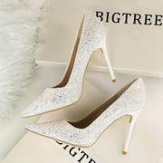 Sequin Pointed Nightclub High Heels - Shop Shiningbabe - Womens Fashion Online Shopping Offering Huge Discounts on Shoes - Heels, Sandals, Boots, Slippers; Clothing - Tops, Dresses, Jumpsuits, and More.
