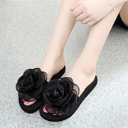 Mesh Floral Embellished Flat Slippers - Shop Shiningbabe - Womens Fashion Online Shopping Offering Huge Discounts on Shoes - Heels, Sandals, Boots, Slippers; Clothing - Tops, Dresses, Jumpsuits, and More.