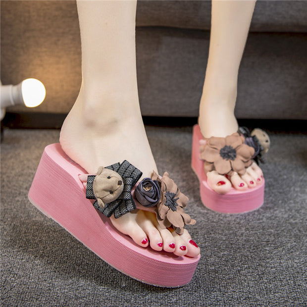 Bear Toe Post Platform Wedge Sandals - Shop Shiningbabe - Womens Fashion Online Shopping Offering Huge Discounts on Shoes - Heels, Sandals, Boots, Slippers; Clothing - Tops, Dresses, Jumpsuits, and More.