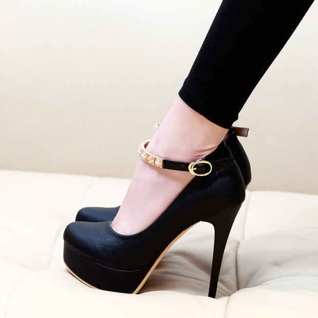 Sexy Platform Round Head High Heels - Shop Shiningbabe - Womens Fashion Online Shopping Offering Huge Discounts on Shoes - Heels, Sandals, Boots, Slippers; Clothing - Tops, Dresses, Jumpsuits, and More.