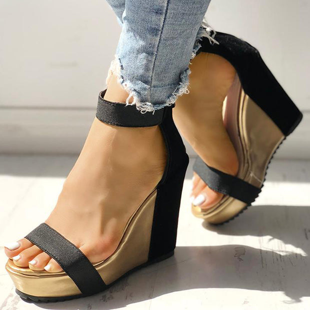 Sexy Open Toe Back Zipper Wedges Sandals - Shop Shiningbabe - Womens Fashion Online Shopping Offering Huge Discounts on Shoes - Heels, Sandals, Boots, Slippers; Clothing - Tops, Dresses, Jumpsuits, and More.