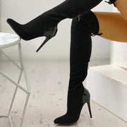 Pointed Toe Over The Knee Boots - Shop Shiningbabe - Womens Fashion Online Shopping Offering Huge Discounts on Shoes - Heels, Sandals, Boots, Slippers; Clothing - Tops, Dresses, Jumpsuits, and More.