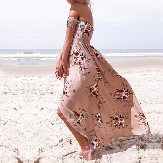 Wrapped Chest Print Holiday Beach Dress - Shop Shiningbabe - Womens Fashion Online Shopping Offering Huge Discounts on Shoes - Heels, Sandals, Boots, Slippers; Clothing - Tops, Dresses, Jumpsuits, and More.