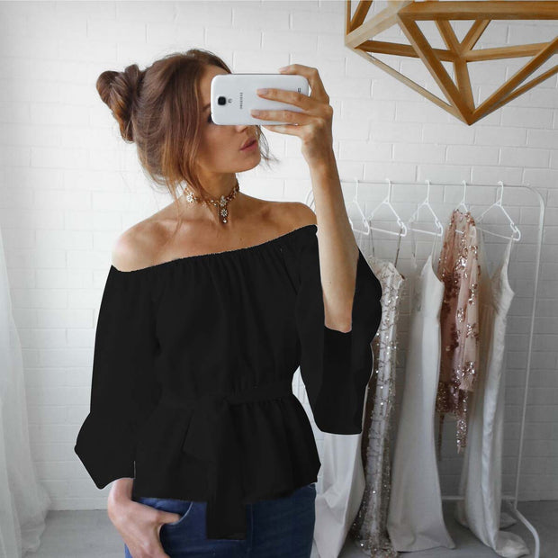 One-shoulder strap with chiffon shirt - Shop Shiningbabe - Womens Fashion Online Shopping Offering Huge Discounts on Shoes - Heels, Sandals, Boots, Slippers; Clothing - Tops, Dresses, Jumpsuits, and More.