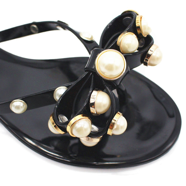 Women's Fashion Bow Pearl Slippers - Shop Shiningbabe - Womens Fashion Online Shopping Offering Huge Discounts on Shoes - Heels, Sandals, Boots, Slippers; Clothing - Tops, Dresses, Jumpsuits, and More.