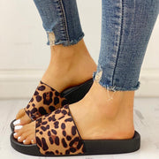 Leopard Pattern Open Toe Slippers - Shop Shiningbabe - Womens Fashion Online Shopping Offering Huge Discounts on Shoes - Heels, Sandals, Boots, Slippers; Clothing - Tops, Dresses, Jumpsuits, and More.