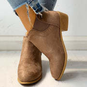 Suede Design Chunky Heeled Boots - Shop Shiningbabe - Womens Fashion Online Shopping Offering Huge Discounts on Shoes - Heels, Sandals, Boots, Slippers; Clothing - Tops, Dresses, Jumpsuits, and More.